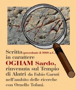 scritta mura ogham ricostruzione